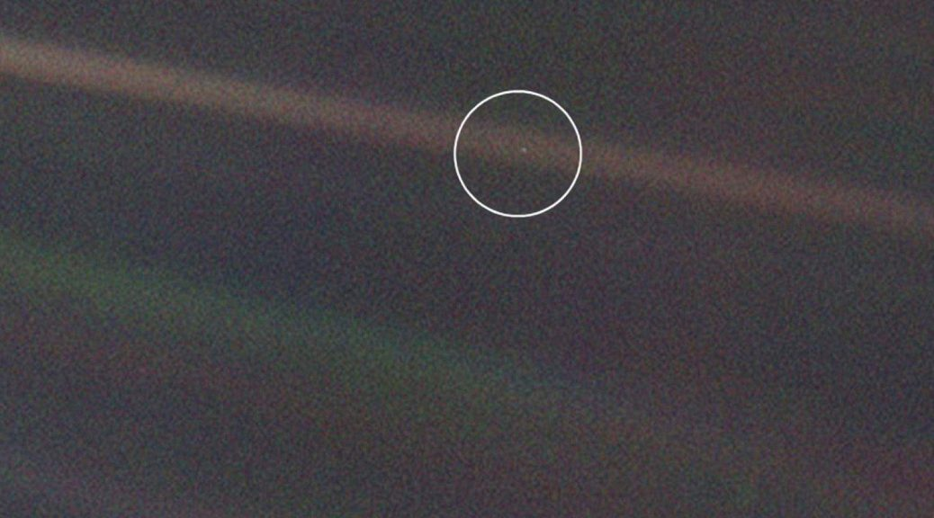 Pale Blue Dot, NASA image