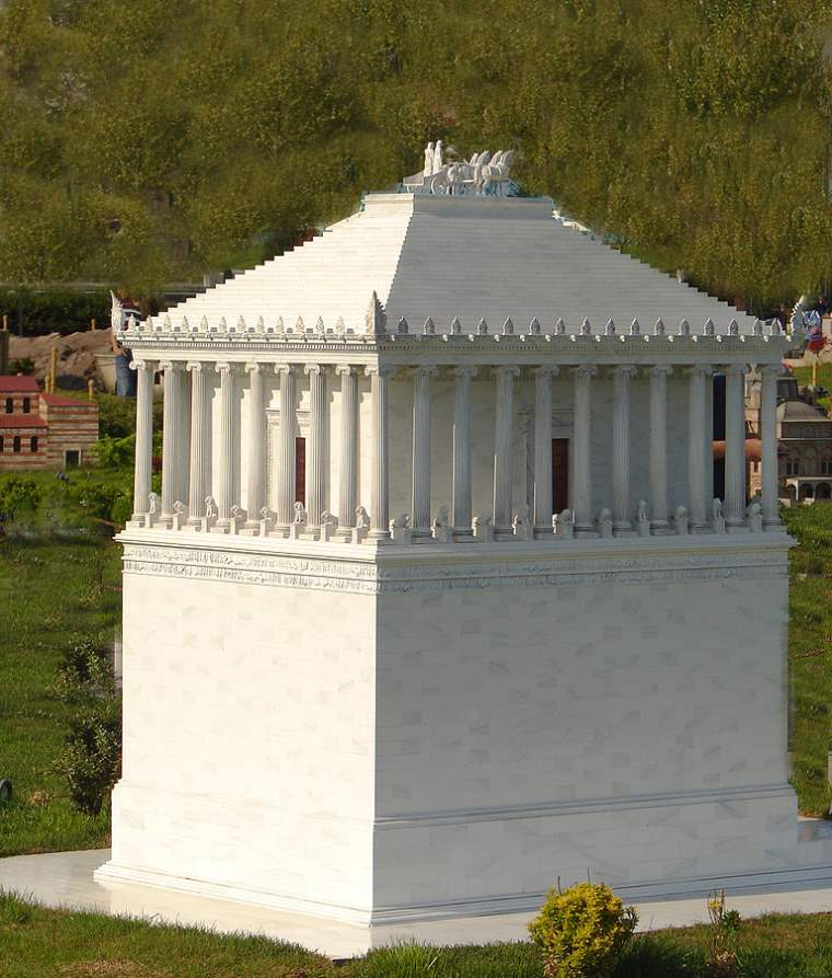 Seven wonders of the ancient world: Mausoleum at Halicarnassus