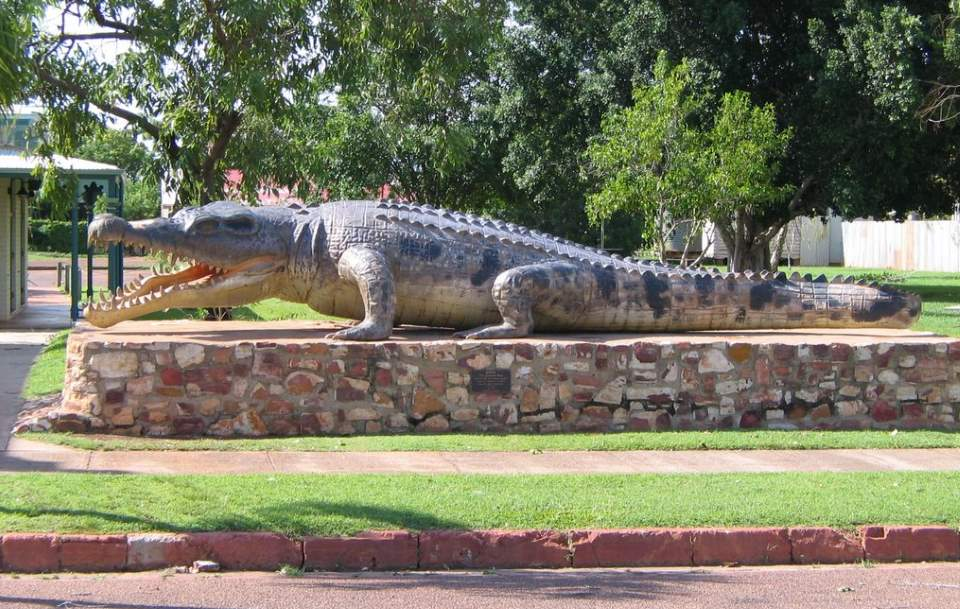 Largest Crocodiles Ever Recorded: Krys , the Crocodile - Life size replica