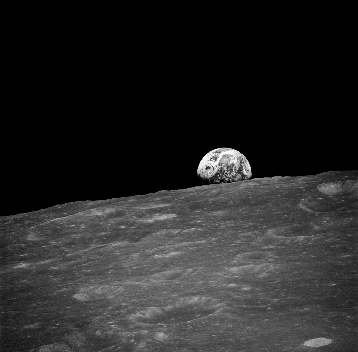 "The first ""earthrise"" photo"