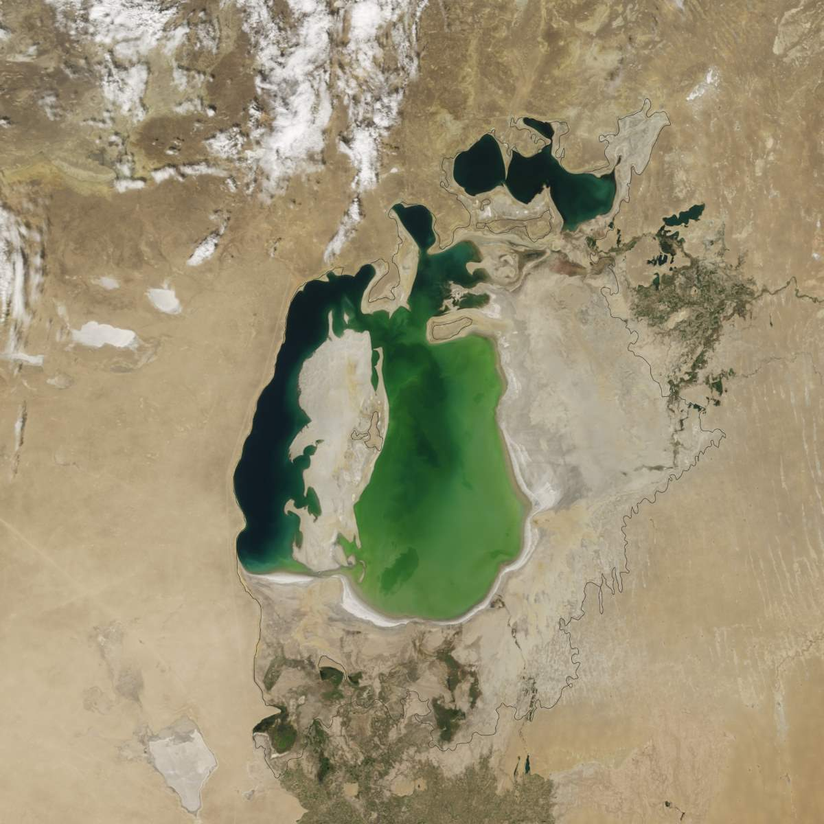 Changing Earth: Aral Sea, August 25, 2000