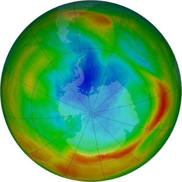 Changing Earth: Ozone Hole, September 17, 1979.