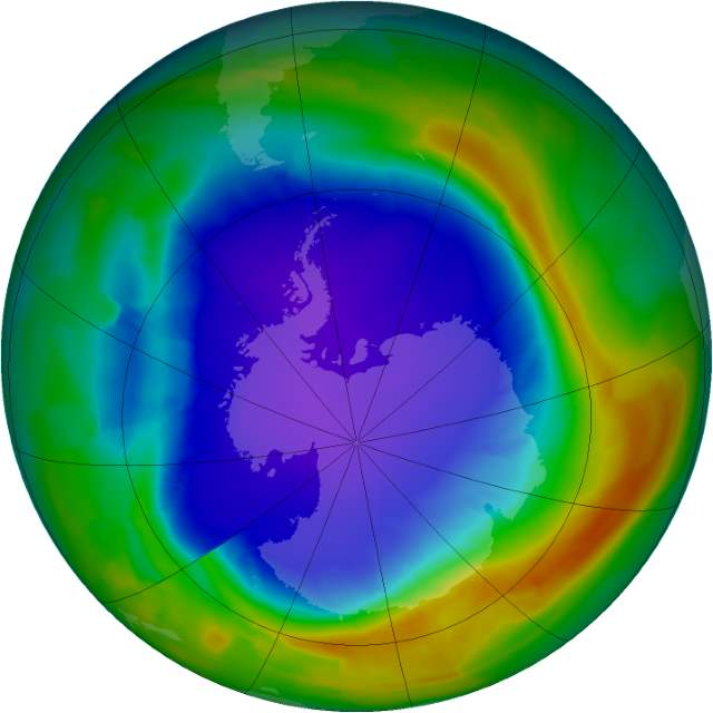 Changing Earth: Ozone Hole, September 29, 2013