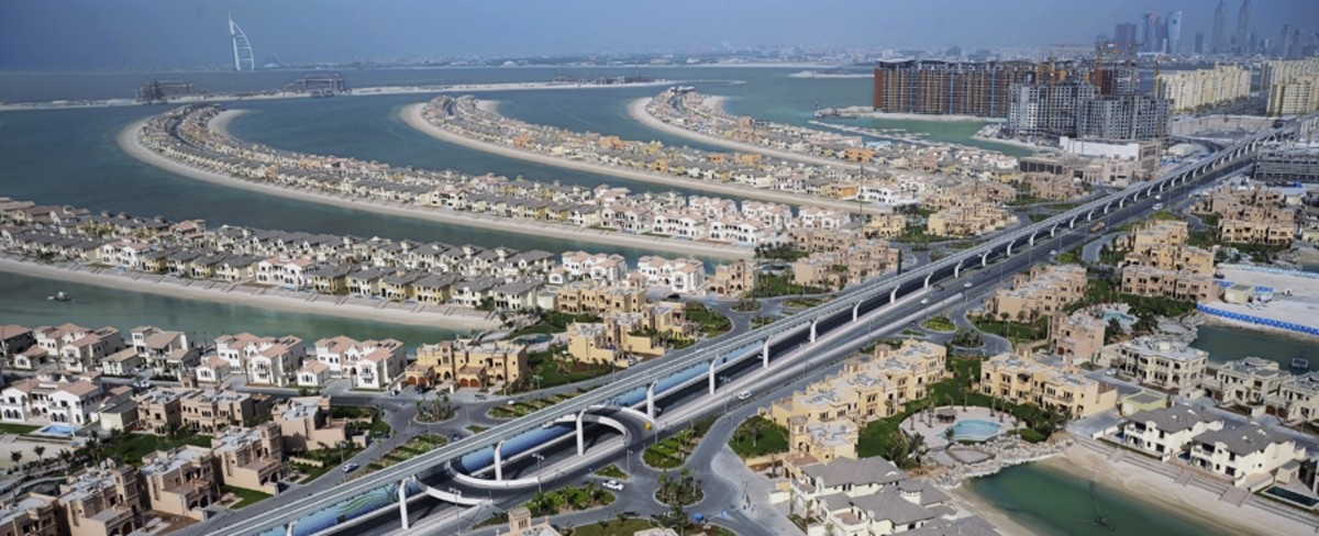 Changing Earth: Palm Jumeirah, Dubai, panorama