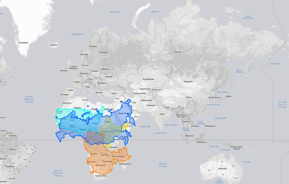 True size of Russia over Africa