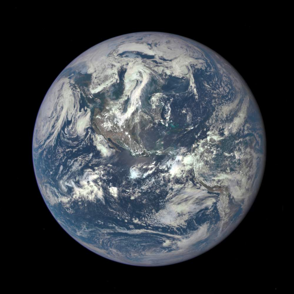 "Earth & Solar System Facts: ""EPIC"" Earth Image by NASA (July 06, 2015)"
