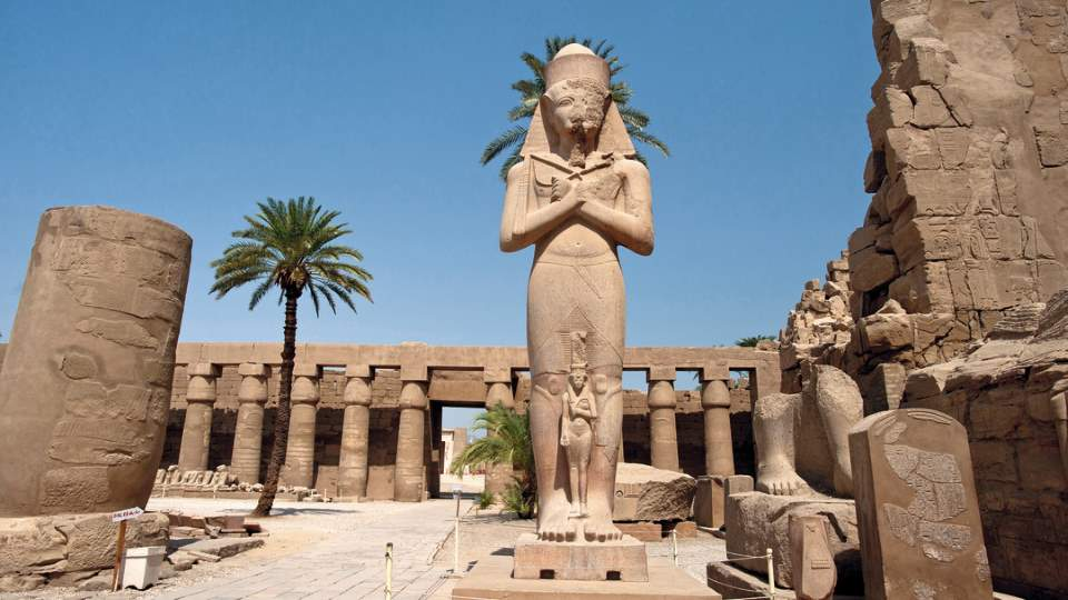 Luxor, Egypt - Statue of Ramses II in Karnak Temple