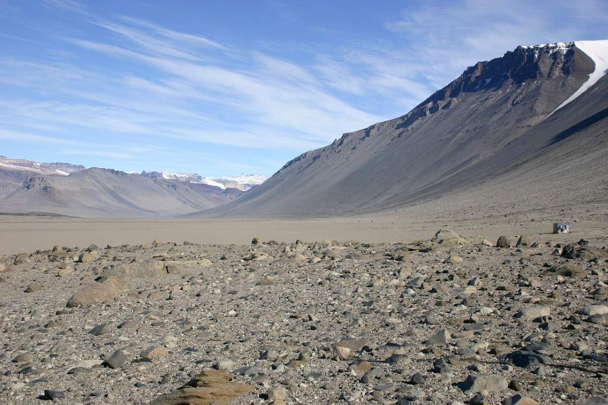 Driest Place on Earth: Wright Valley, McMurdo Dry Valleys, Antarctica - from the Bull Pass