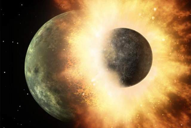 What would the Earth without Moon be like - the giant impact hypothesis