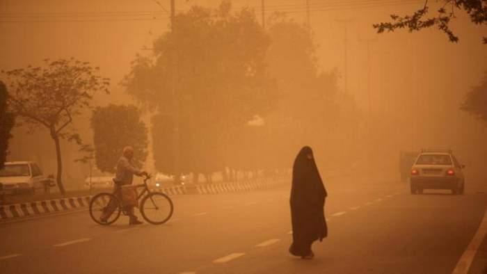 One of the hottest cities in the world - Sand storm in Ahvaz