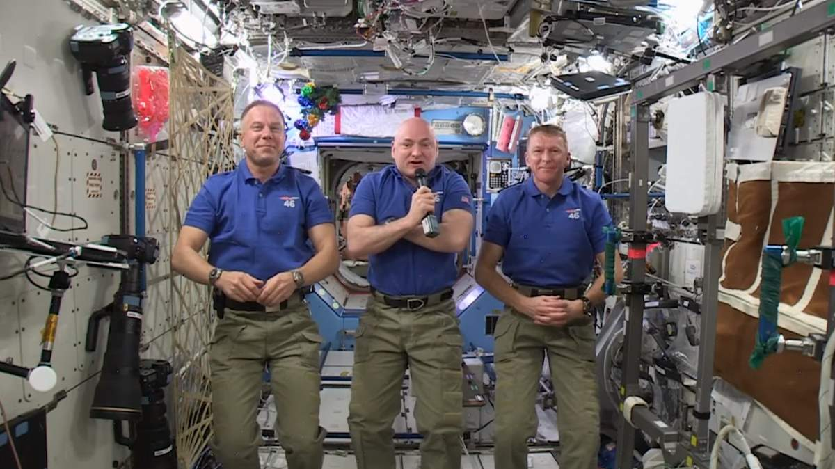 Earth from space for the first time - Happy New Year Message from ISS, commander: Scott Kelly