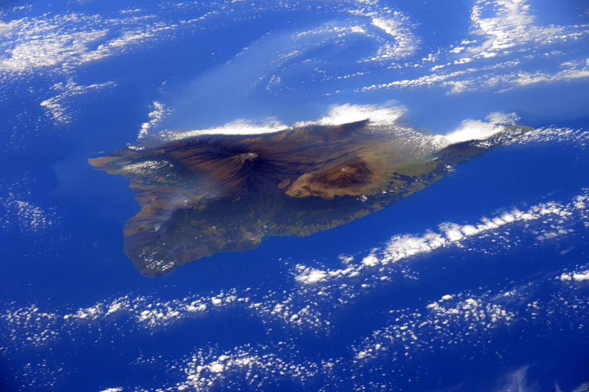 Hawaii from the International Space Station, February 28, 2015