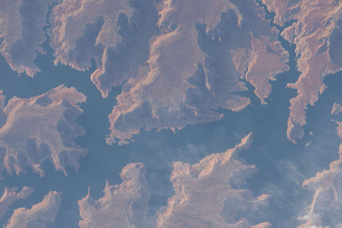 Most Beautiful Earth Images Taken From the International Space Station in 2015: Lake Powell from International Space Station, May 8, 2015