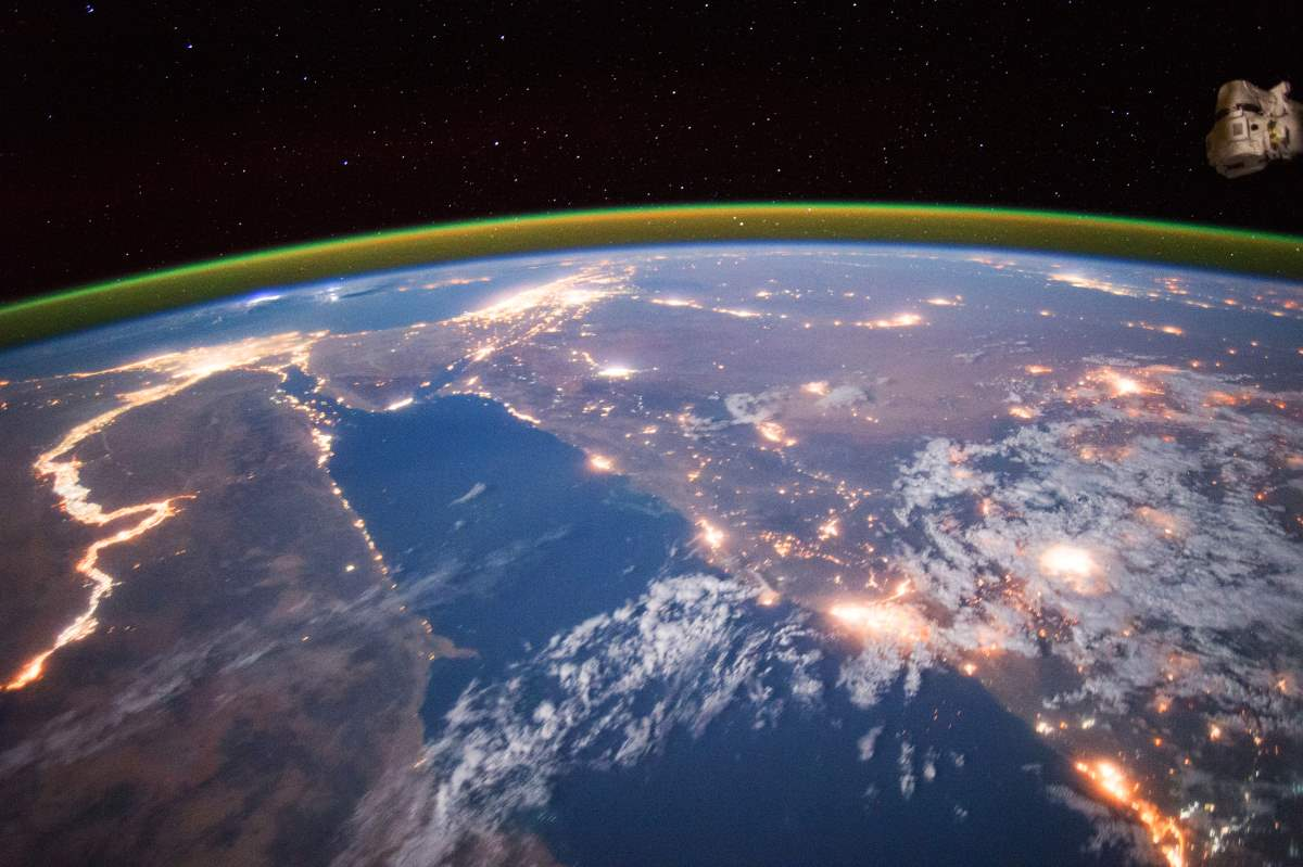 Most Beautiful Earth Images Taken From the International Space Station in 2015: Nile at Night from International Space Station (September 22, 2015)
