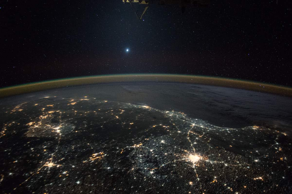Most Beautiful Earth Images Taken From the International Space Station in 2015: Venus from the International Space Station (December 5, 2015)