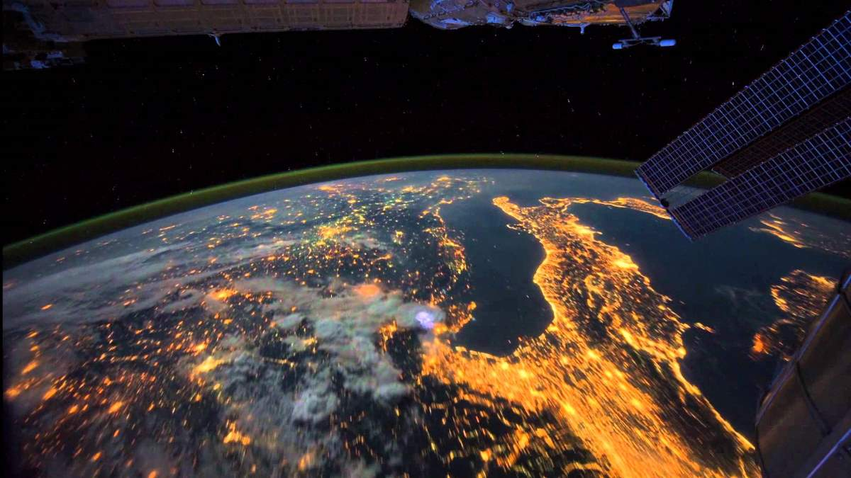 Anthropocene - The Earth in the night from space