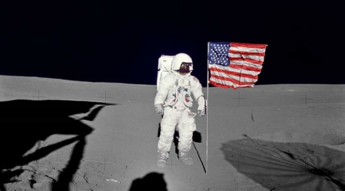 Edgar Mitchell on the Moon