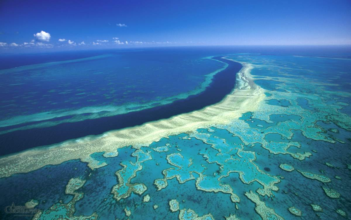 Countries having most number of UNESCO World Heritage Sites: Great Barrier Reef, Australia