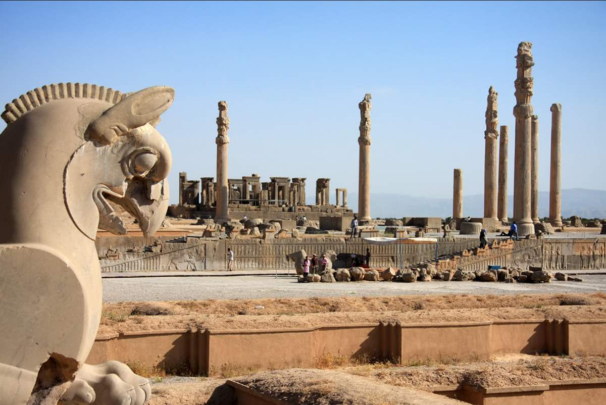 Countries having most number of UNESCO World Heritage Sites: Ruins of Persepolis, Iran