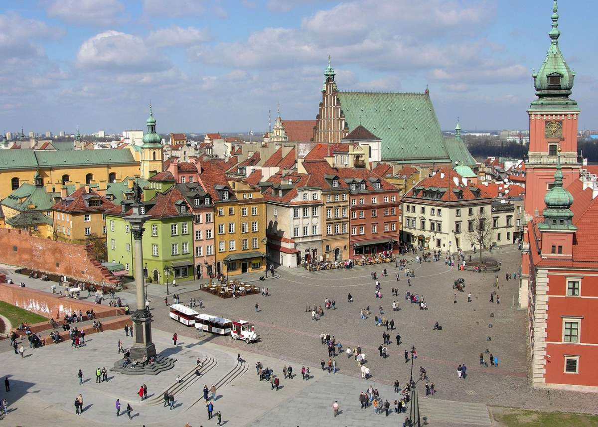 Countries having most number of UNESCO World Heritage Sites: Warsaw old town