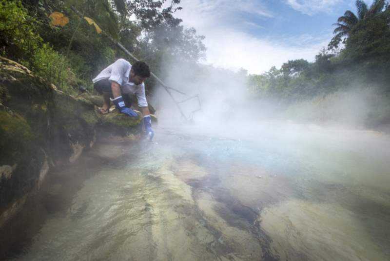 Boiling river of Amazon rainforest