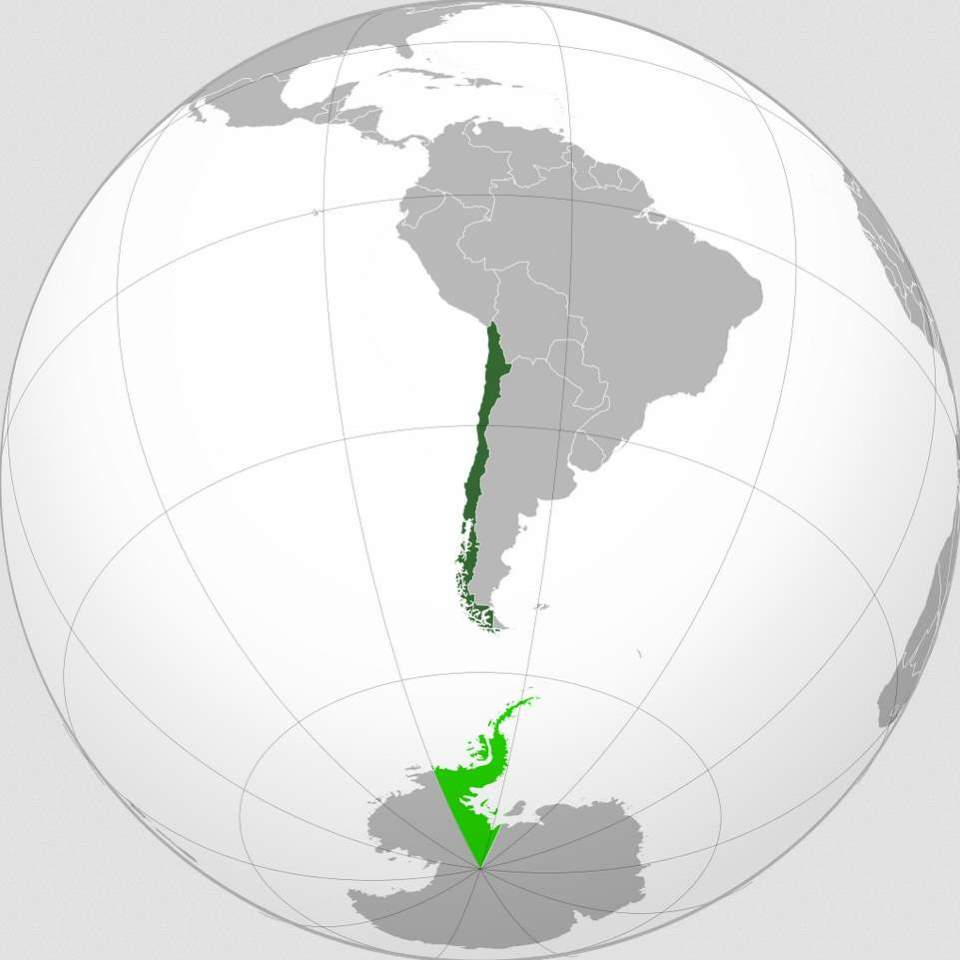 Chile, orthographic projection