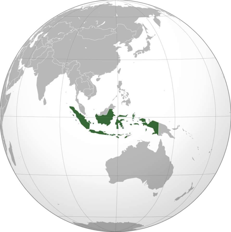 Indonesia (orthographic projection)