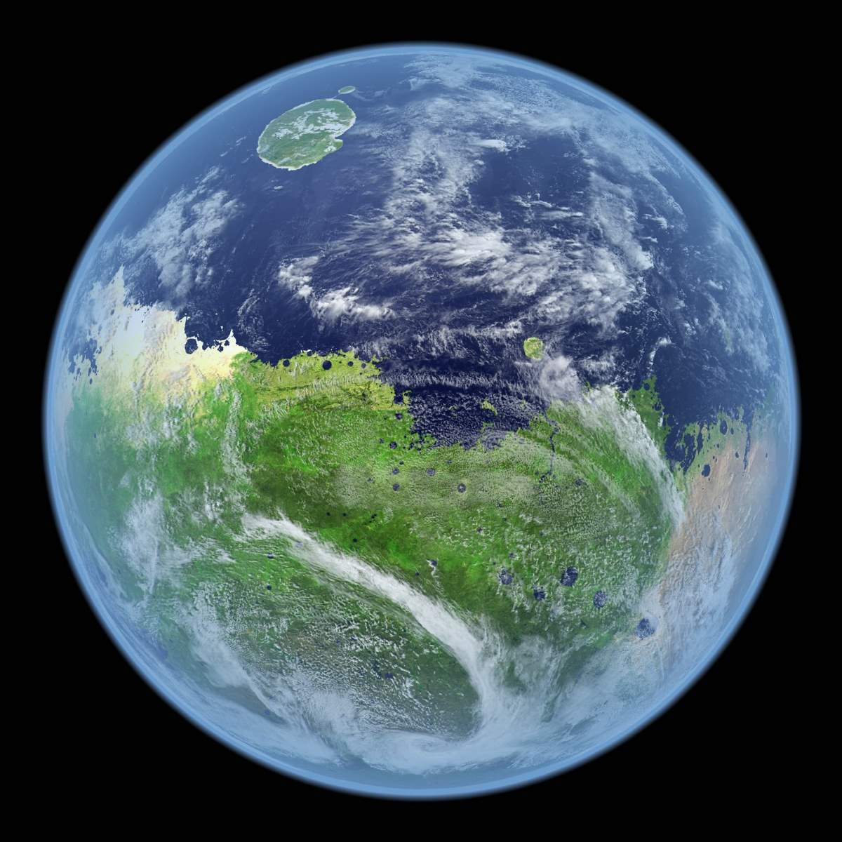 How Mars would look if it still had water - Our Planet