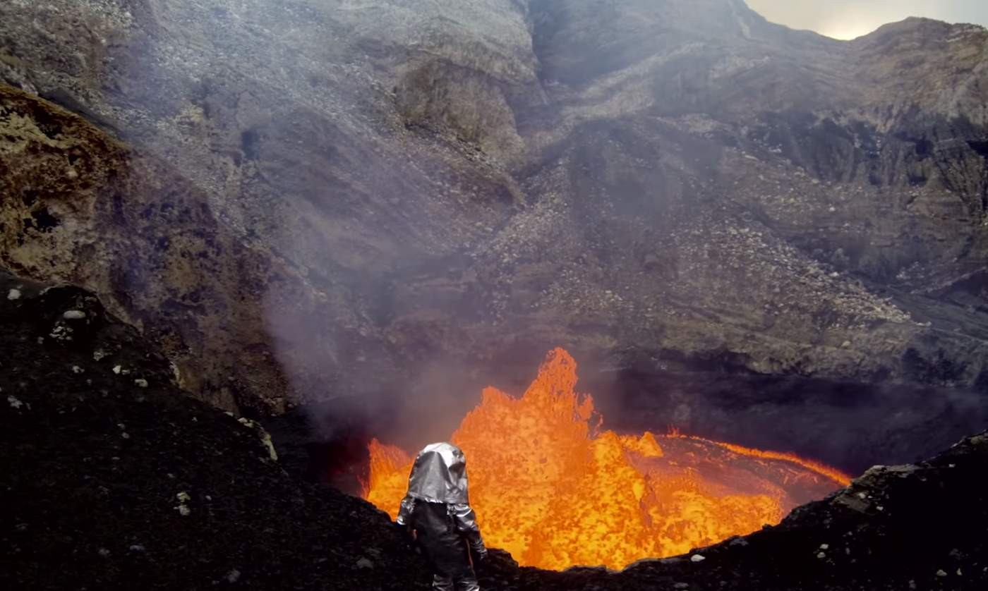 Drones Sacrificed for this Spectacular Volcano Video - Marum Crater (closeup)