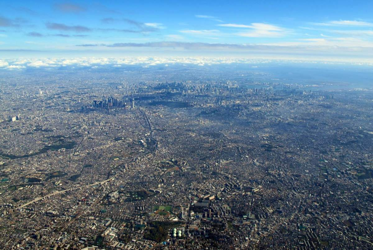 City facts: An aerial view of Tokyo