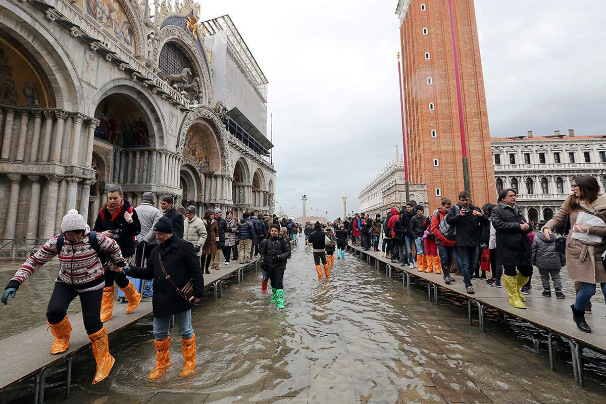 Places to See Before They Have Vanished: High Water in San Marco Square, Venice