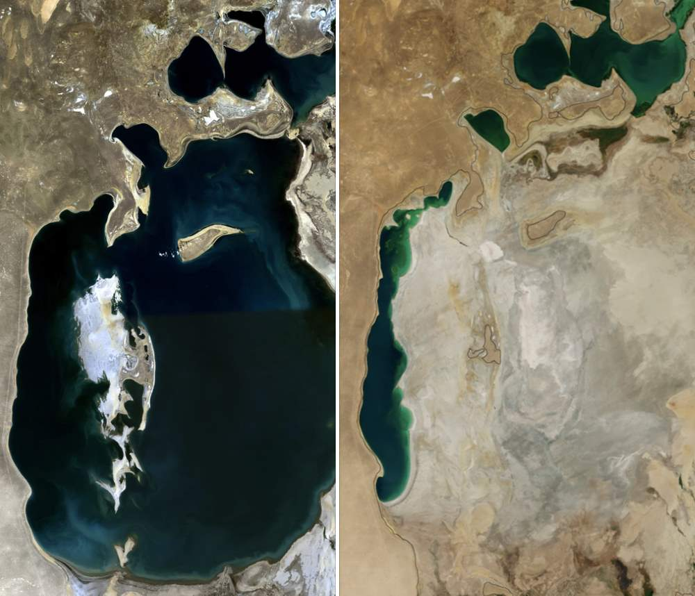 Aral Sea (1989 vs 2014)