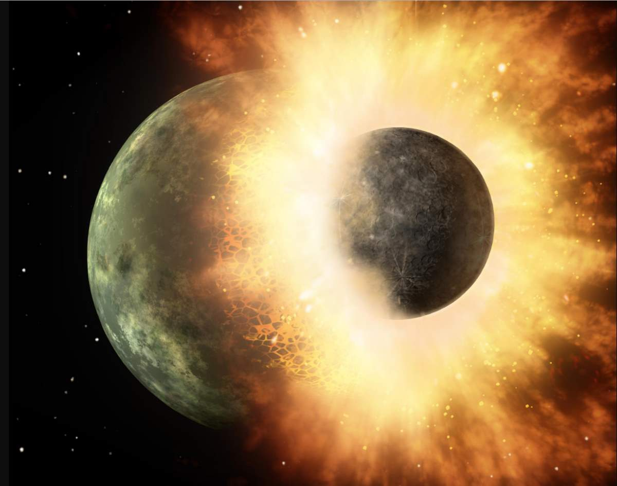 How Earth Could Die: Collision between two planetary bodies