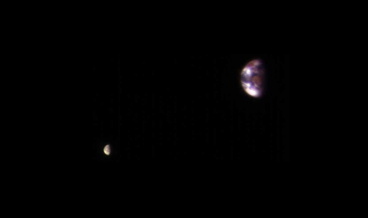 Earth and Moon, as seen from Mars - Our Planet