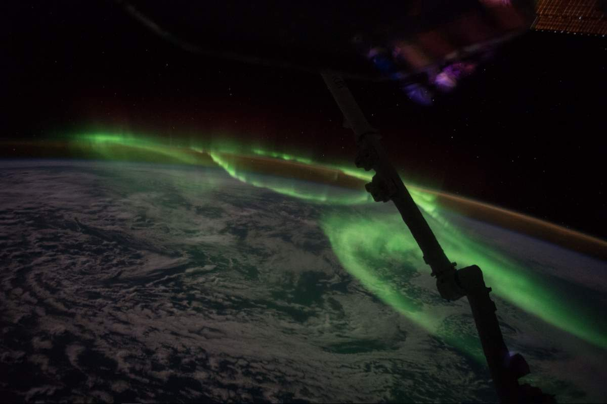 Most Beautiful Earth Images Taken From the International Space Station in 2016: International Space Station - Aurora South of Australia (June 24, 2016)