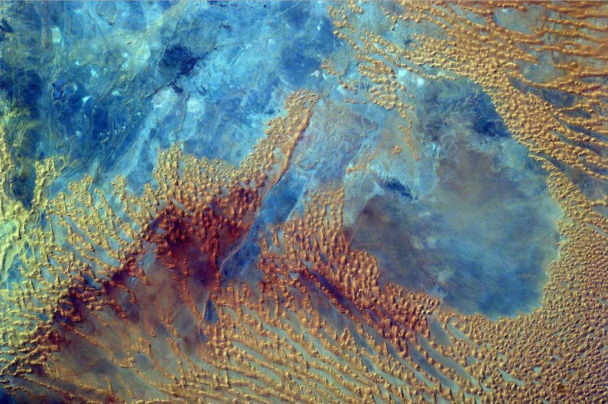 Most Beautiful Earth Images Taken From the International Space Station in 2016: International Space Station, Sahara Desert from Sally Ride EarthKAM (October 3, 2016)