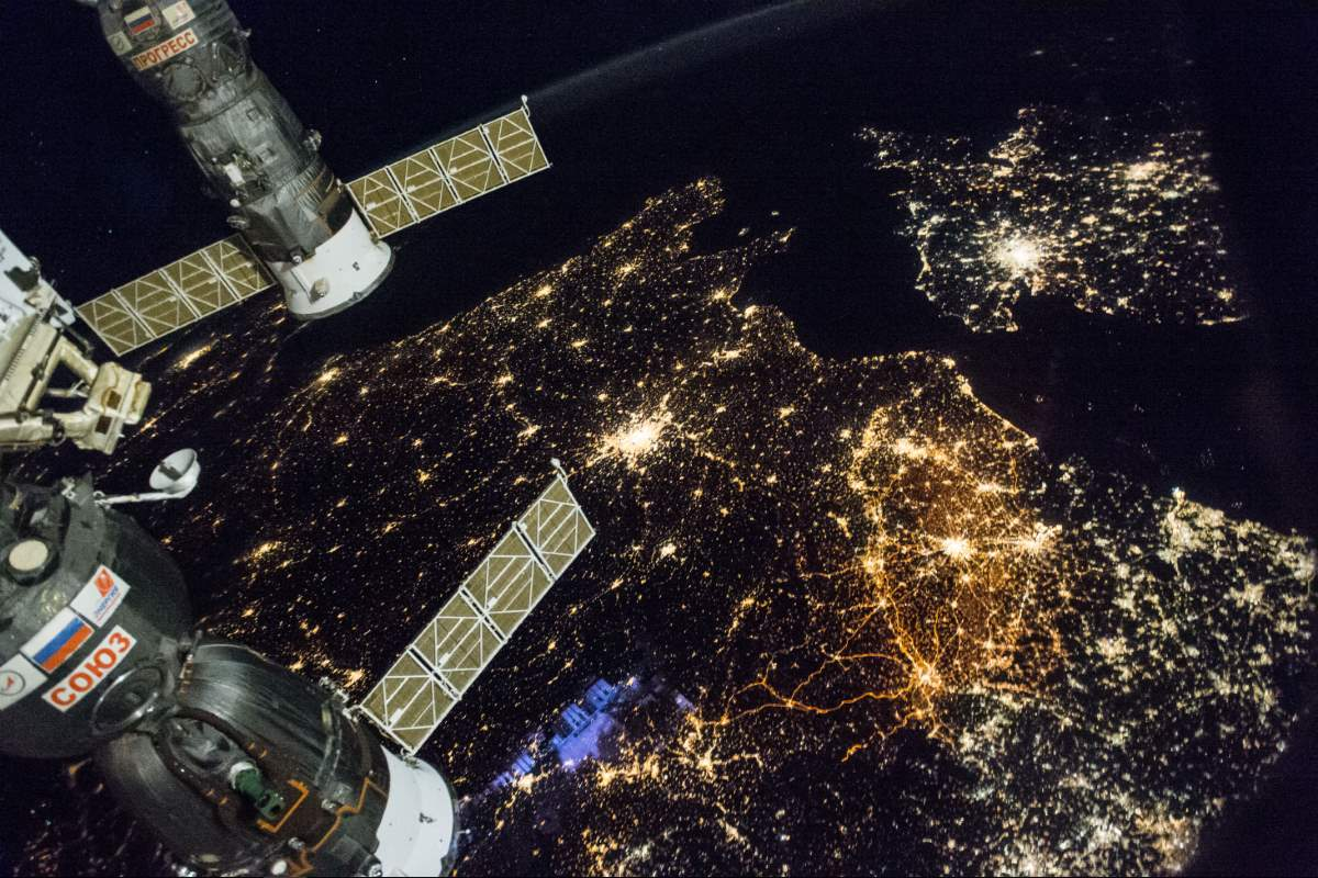 Most Beautiful Earth Images Taken From the International Space Station in 2016: International Space Station, Western Europe at Night (November 28, 2016)