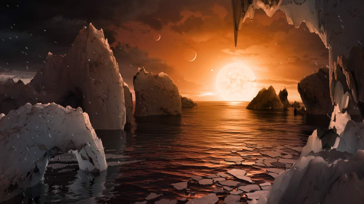 Possible surface of TRAPPIST-1f, a planet orbits the TRAPPIST-1 in the habitable zone