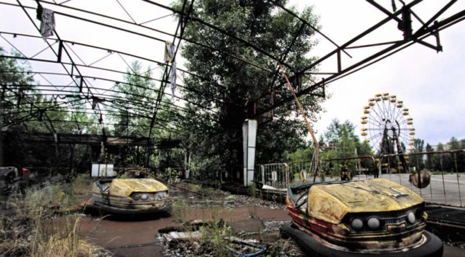 Pripyat amusement park after Chernobyl disaster