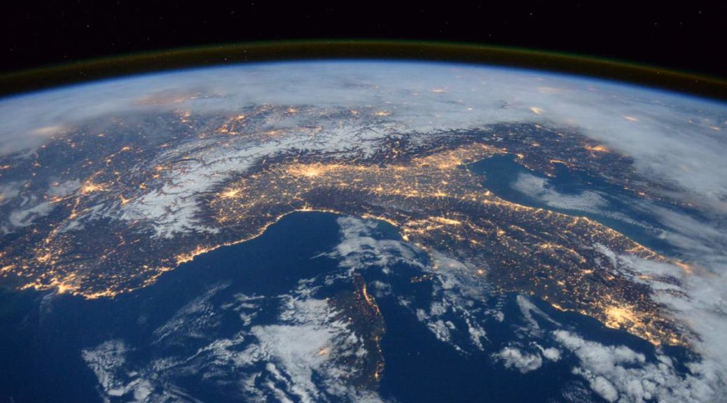 Space Station flyover of the Mediterranean (January 2016)