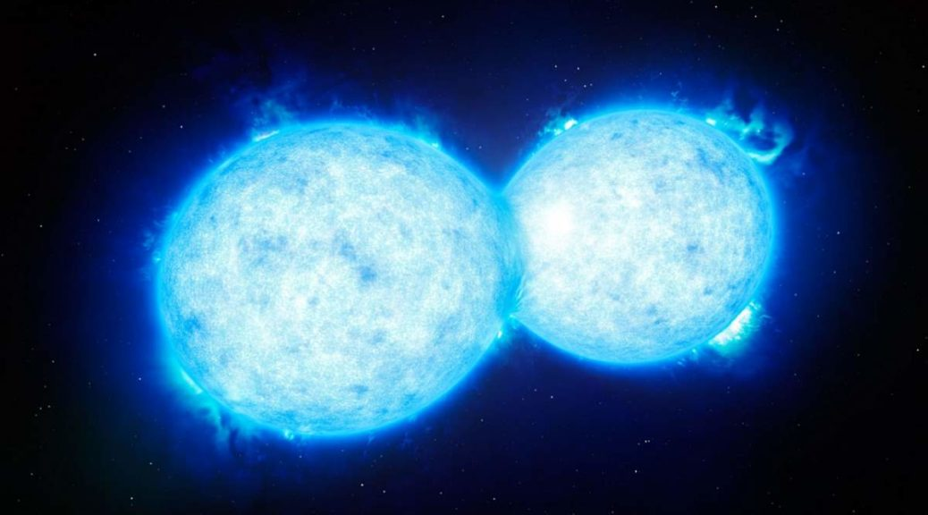 Two colliding stars
