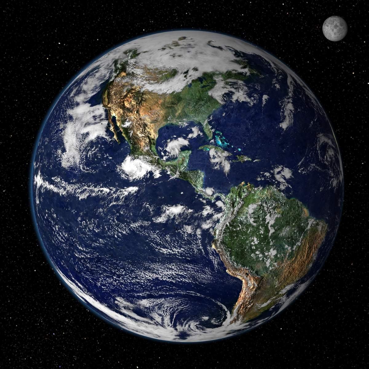 Earth and Moon image (NASA)
