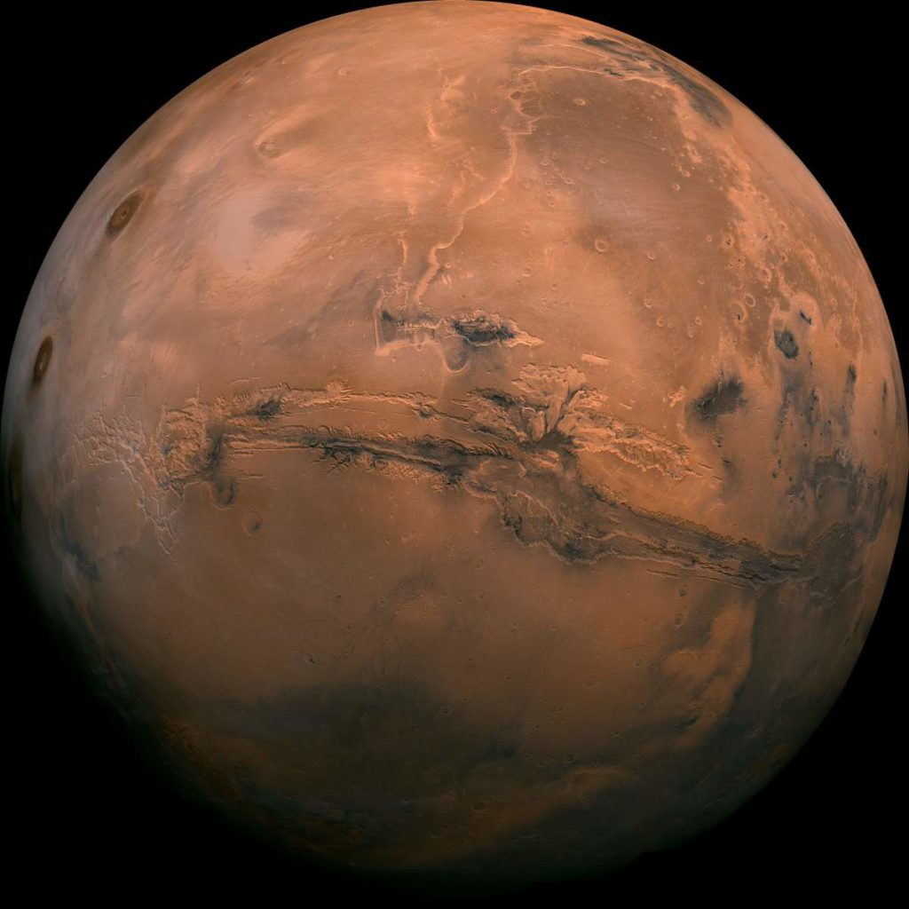 How Earth could die: Mars - Valles Marineris Hemisphere Enhanced