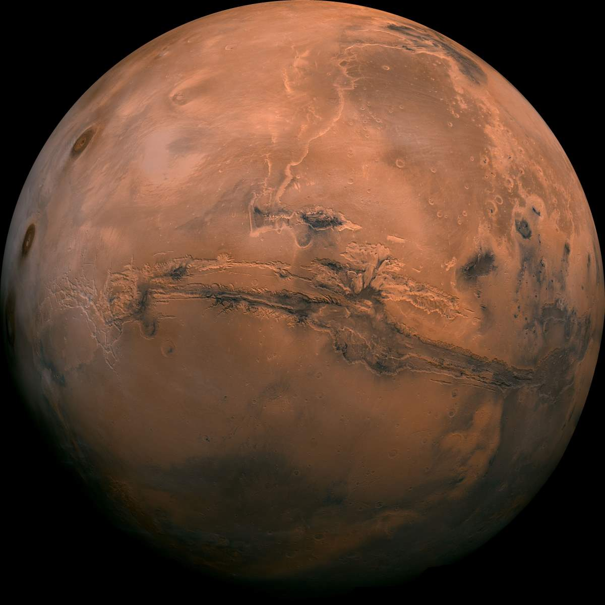 Mars - Valles Marineris Hemisphere Enhanced