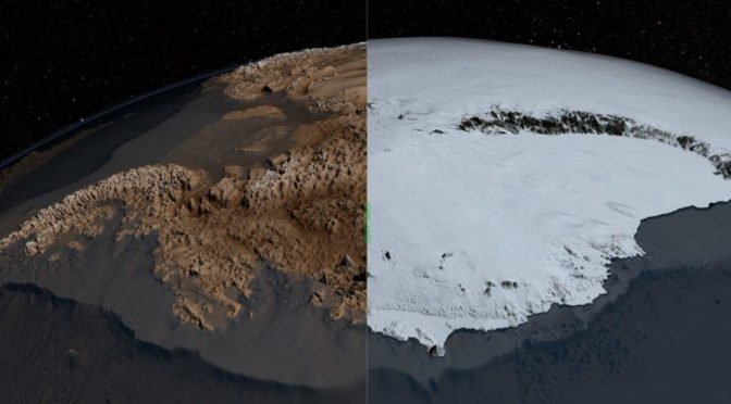 Antarctica, with and without ice