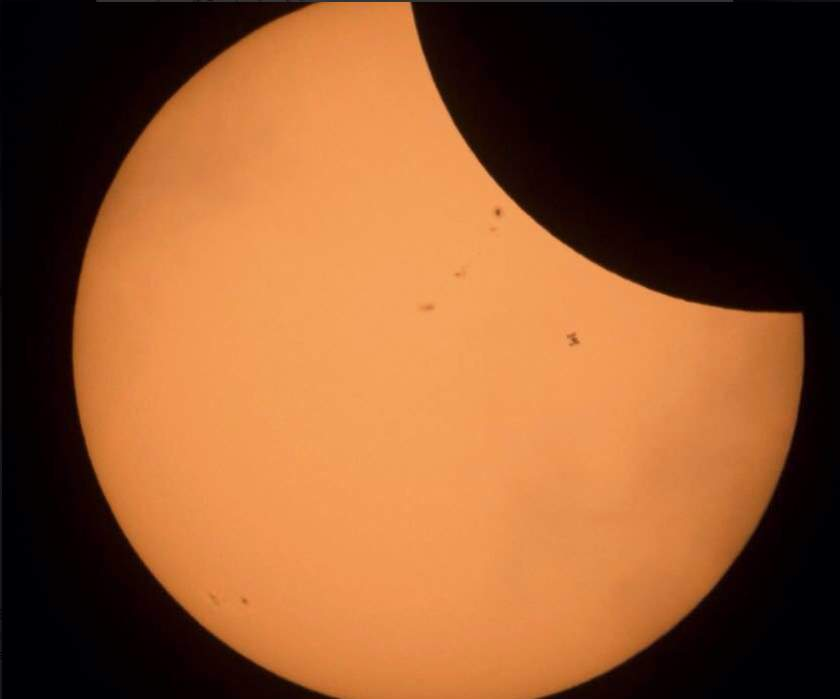 ISS during Solar Eclipse