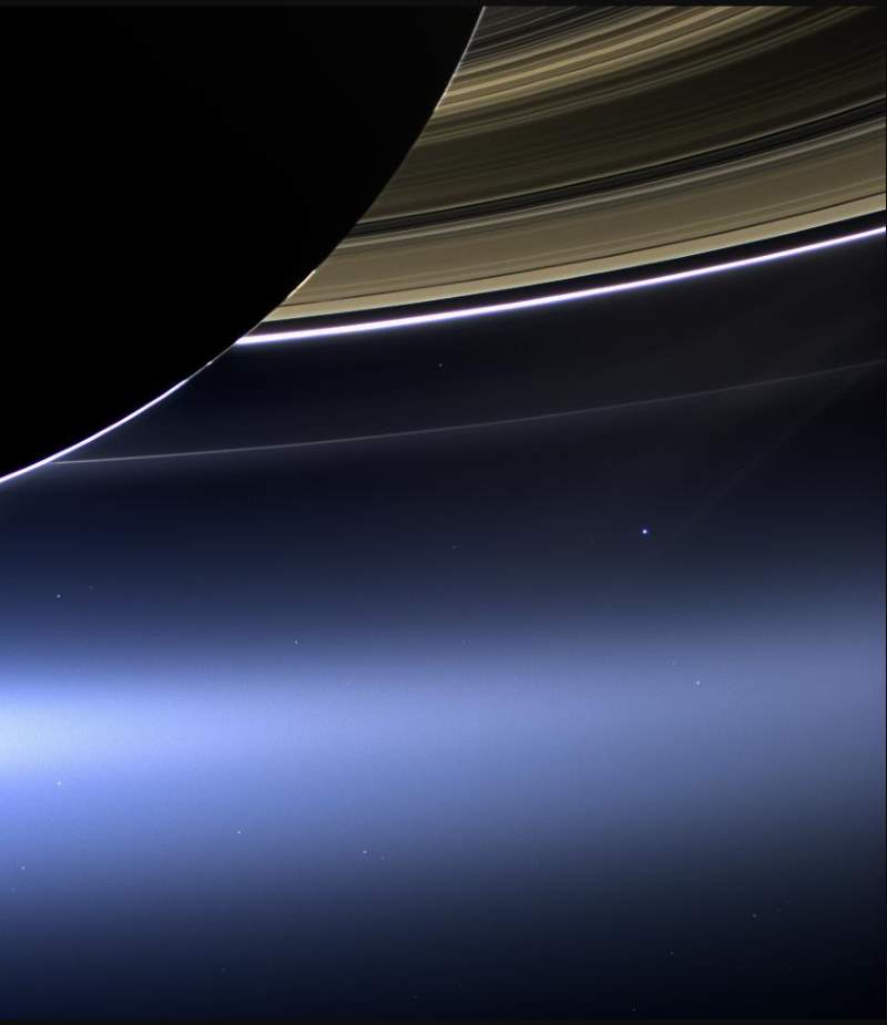 Most Iconic Photos of Earth from Space: Cassini - Earth view from Saturn