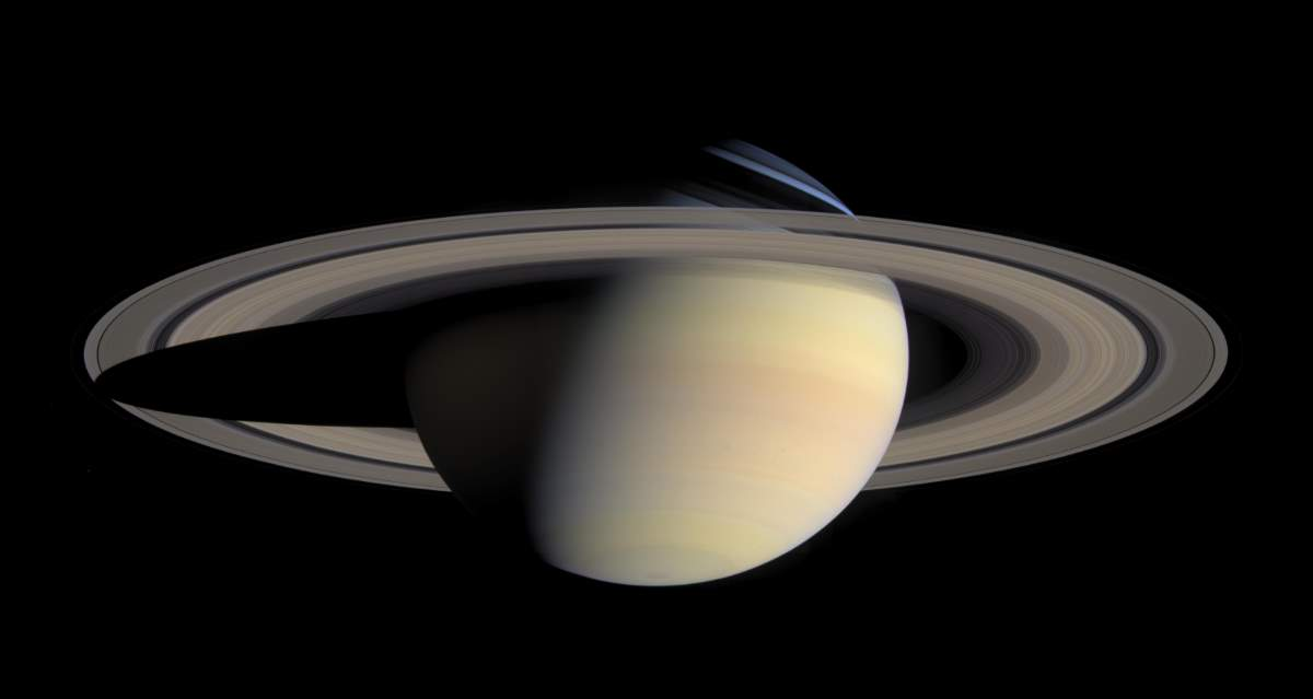 Saturn From Cassini (October 6, 2004)