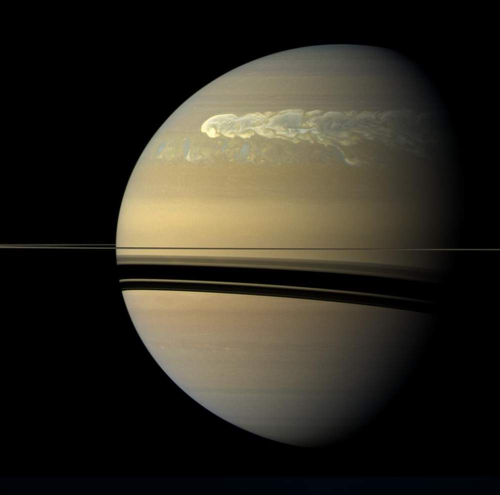 Storm on Saturn from Cassini (February 25, 2011)