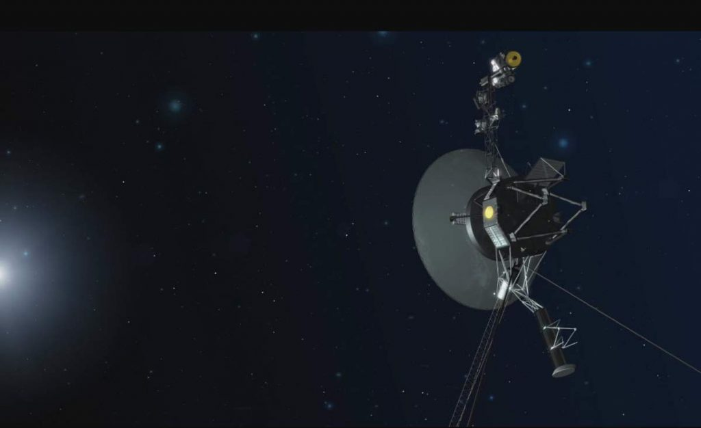 Space probes leaving the solar system: Voyager 1 in Deep Space (Artist Conception)